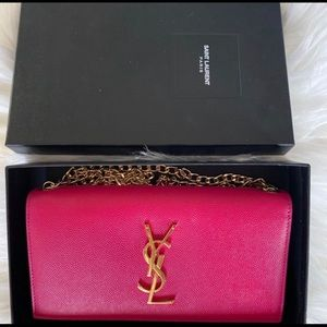 YSL Saint Laurent Wallet on a chain